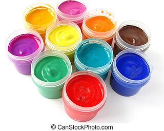 colorful gouache - watercolor gouache paints set...