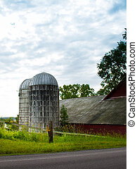 Two silos in New York state.
