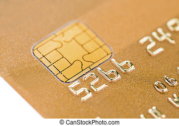 golden credit card - a gold credit card for cashless payment