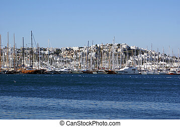 Houses and boats