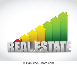 home colorful real estate house graph chart illustration...