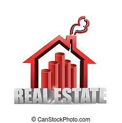 real estate house graph chart illustration
