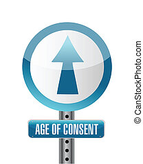sign with an under age concept illustration design over...