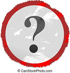 grunge question sign - Grunge style Question mark sign...