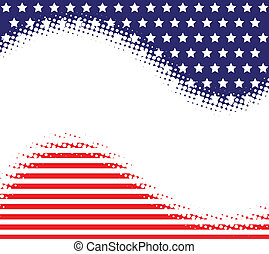 Stars Stripes Haltone Background - A stars and stripes...