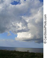 Cloud Formation - Cloud formation over the ocean