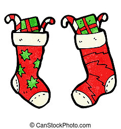 cartoon christmas stockings