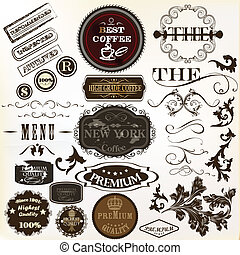 Vector set of stickers and labels - Collection of vector...