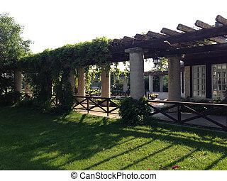 Courtyard with column pillars - column pillar courtyard and...