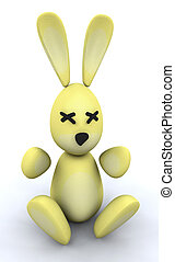 Easter bunny - 3D render of an Easter bunny