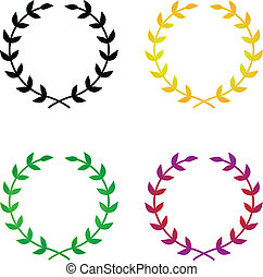 Laurel Wreaths - Four simple, elegant vector laurel wreaths....