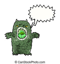 cartoon scary monster