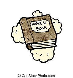 cartoon address book