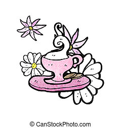 cartoon cup and saucer