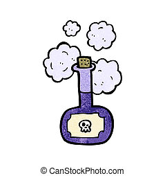 deadly poison bottle cartoon
