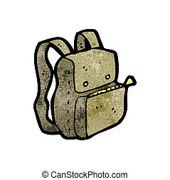 cartoon rucksack