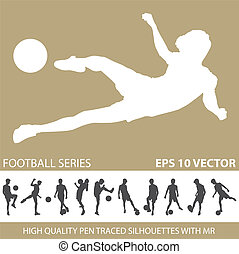 football soccer silhouettes
