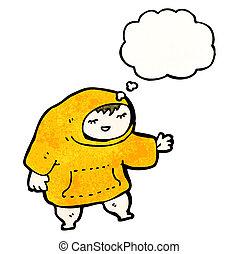 teenager in hooded sweatshirt