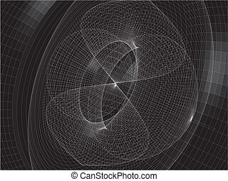 Abstract Wire Net Structure Vector