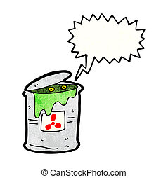 monster in toxic waste can cartoon