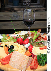 Austrian Cold cuts, cheese platter - Austrian Cold cuts and...