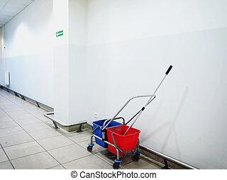 mop and bucket indoor - Industrial mop and bucket indoor