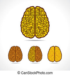 Differnt illustration of Brain forming of  arrows