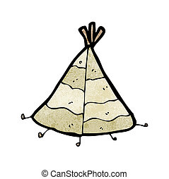 cartoon tepee
