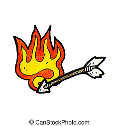 cartoon flaming arrow