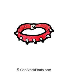 spikey dog collar cartoon