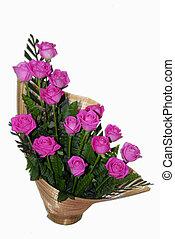 rosa, rosa, flor, ramo, Ikebana