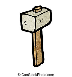 cartoon stone mallet