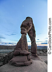 Delicate Arch of Arches National Park at Sunset