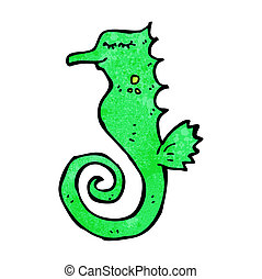 seahorse, rysunek