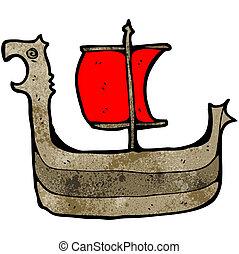 viking ship cartoon