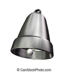 3D silver bell