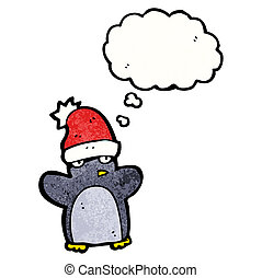 cartoon funny christmas penguin