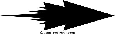 arrow on white background - vector