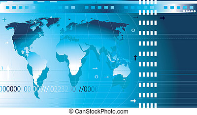communication - abstract design background with world map,...