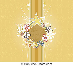 floral design - abstract floral design in earth tones