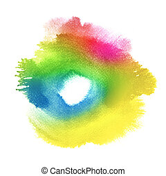 Abstract watercolor hand painted background - Abstract...