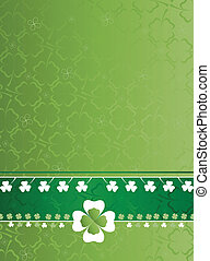 st patricks day card with clovers