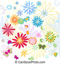 flower background - colorful flower background