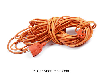 electric extension cord isolated on white background