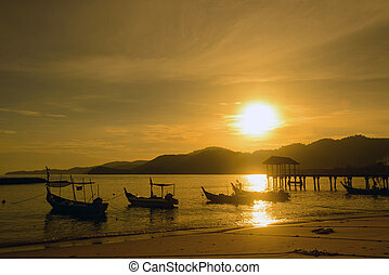 Fisherman village - Sunset at the fisherman village in...