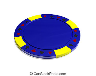 Isolated poker chip
