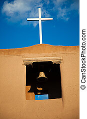 Old Spanish Mission, Santa Fe, New Mexico - An old Spanish...