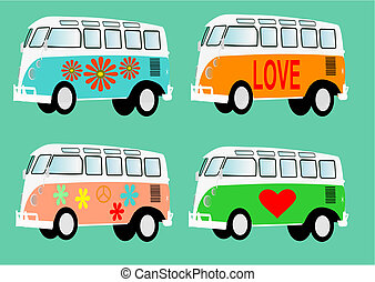Hippie mobile home camper - Vector illustration of a camper...