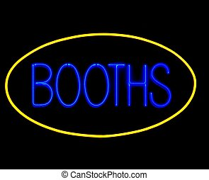 game booths neon sign