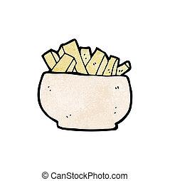 cartoon fries,